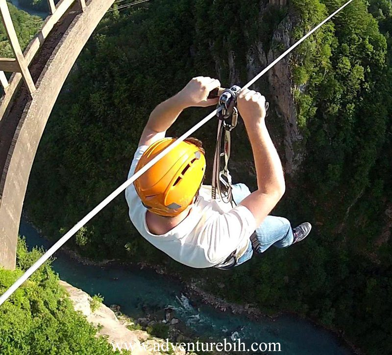 zip line canyon Tara bridge