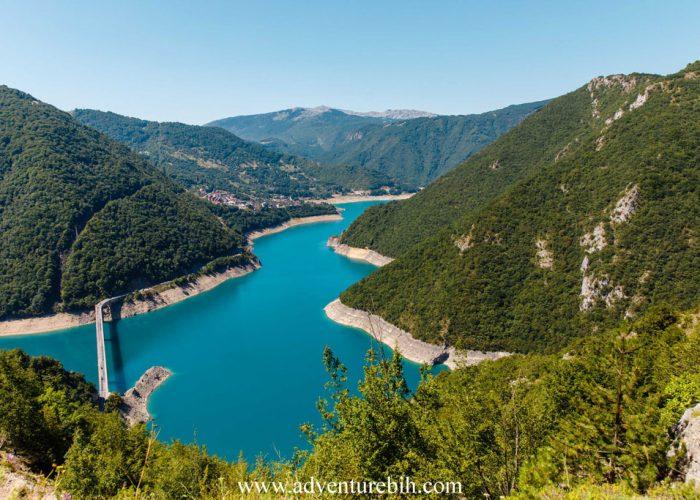 Piva lake cruising Montenegro