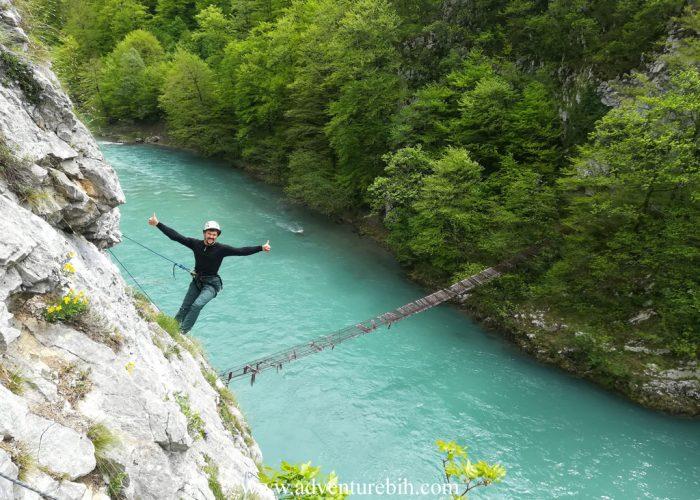 Rock climbing canyon tara-Bosnia and herzegovina