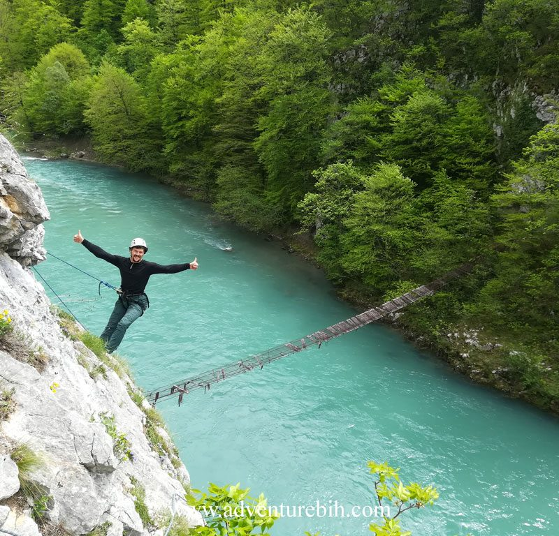 Rock climbing canyon tara-Bosnia and herzegovina