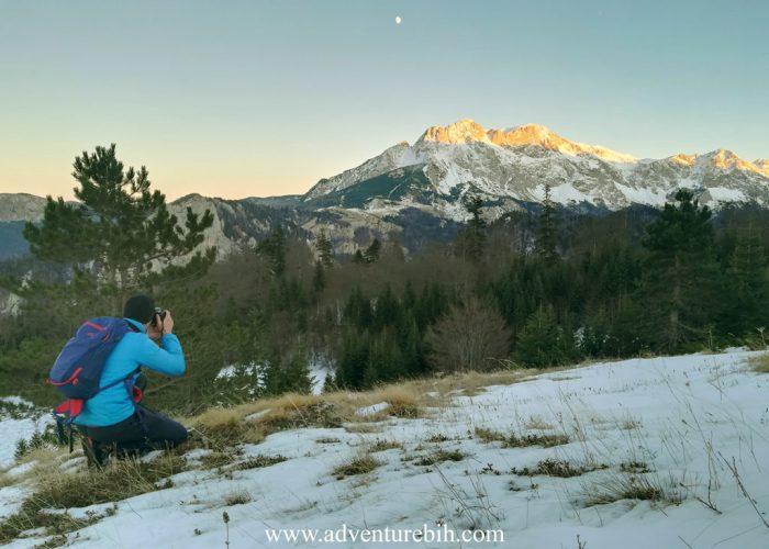 Hiking highest mountain peak in bosnia and herzegovina-maglic